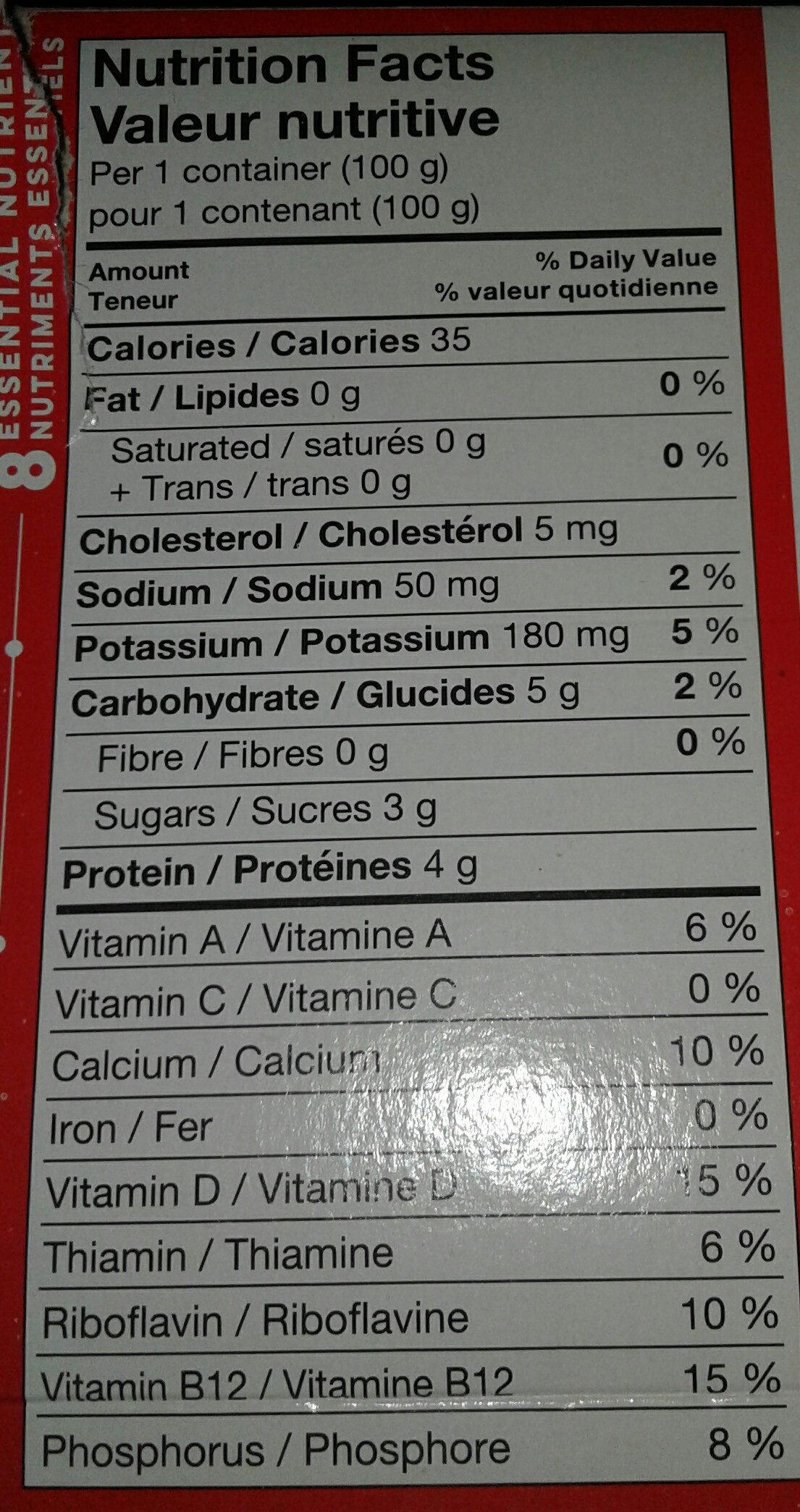 Source - Informations nutritionnelles - ar