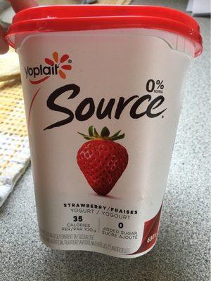 Yogourt Source (fraise) - Produit
