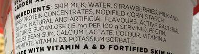 Yogourt Source (fraise) - Ingredients