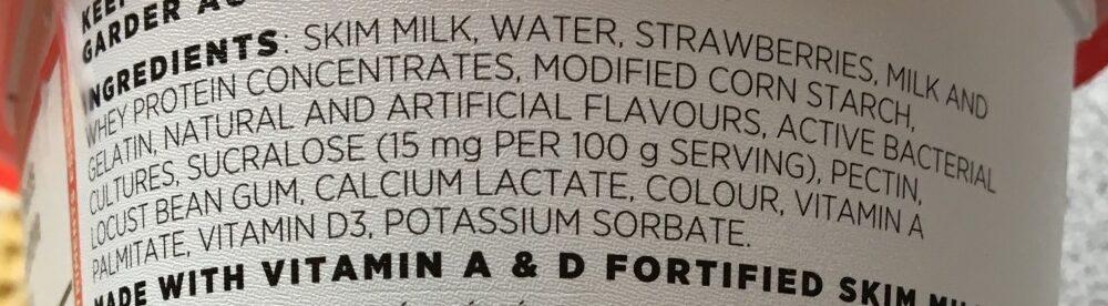 Yogourt Source (fraise) - Ingredients - en