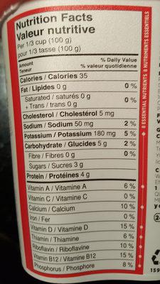 Yogourt Source (fraise) - Informations nutritionnelles