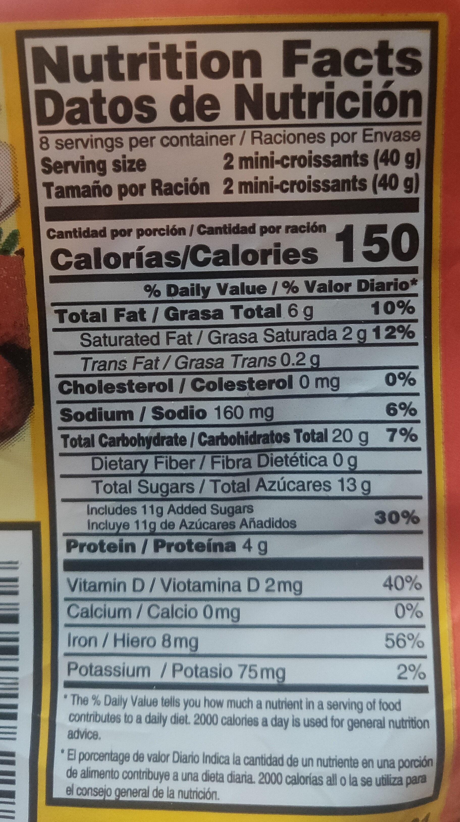 Mini Latino Croissants - Nutrition facts - en