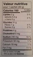 Toast melba huile d'olive et romarin - Nutrition facts - fr