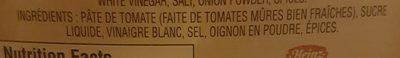 Ketchup Aux Tomates - Ingrédients