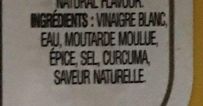 Yellow Mustard - Ingrédients - fr