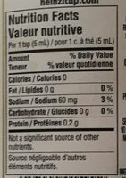 Yellow Mustard - Informations nutritionnelles - fr