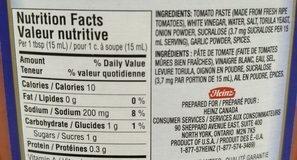 Ketchup Sans Sucre Ajouté - Ingredients - fr