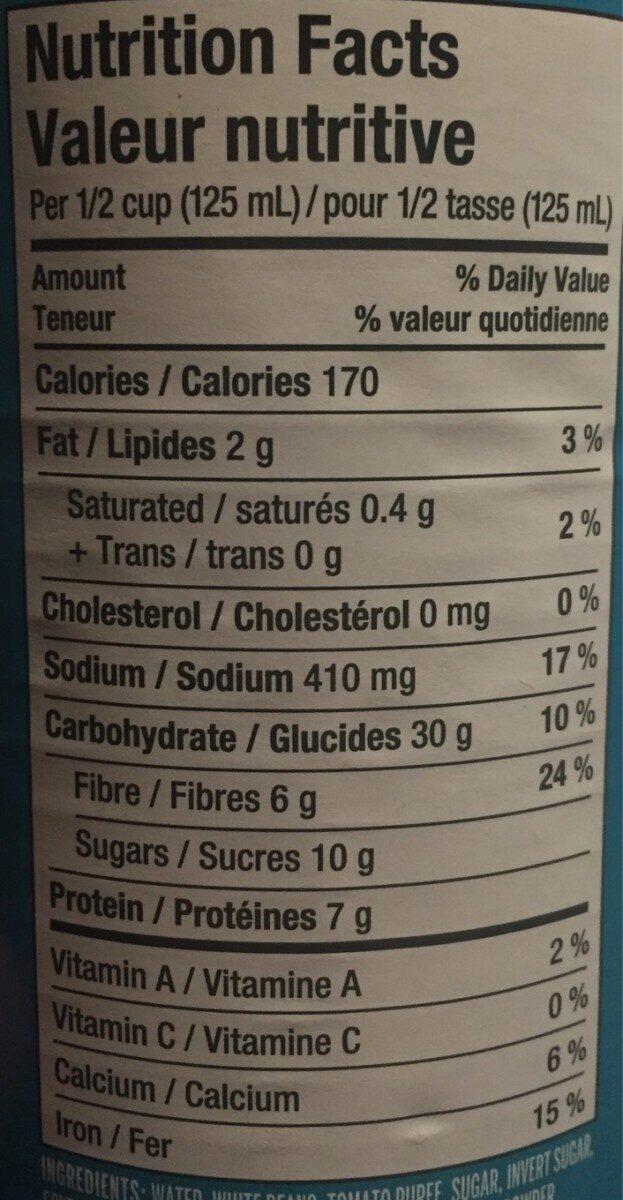 Fèves bien mijotées - Nutrition facts - fr