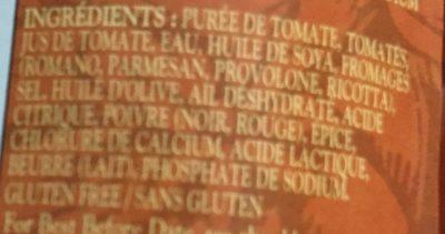 Sauce Pour Pâtes (4 Fromages) - Ingrédients