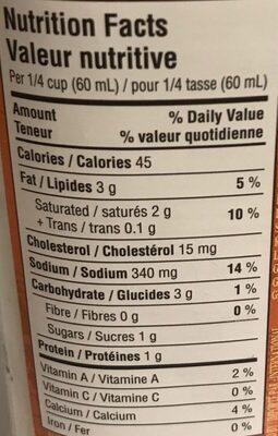 Sauce Alfredo et Ail Rôti - Informations nutritionnelles - fr