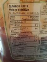 Heinz Tomato Ketchup - Nutrition facts - en