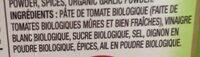 Ketchup bio - Ingrédients