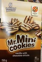 Mr. Mini Cookies Vanilla with Chocolate Drizzle - Product - en
