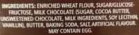 Mr. Mini Cookies Vanilla with Chocolate Drizzle - Ingredients - en