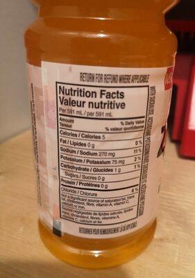 Gatorade zero - Nutrition facts - fr