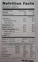Spring roll - Informations nutritionnelles - en