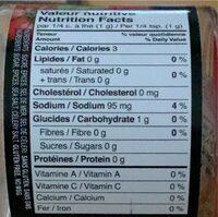 Assaisonnement pour sauce Spaghetti - Nutrition facts - fr