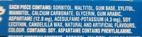 Chewing gum menthe poivrée - Ingredients - en