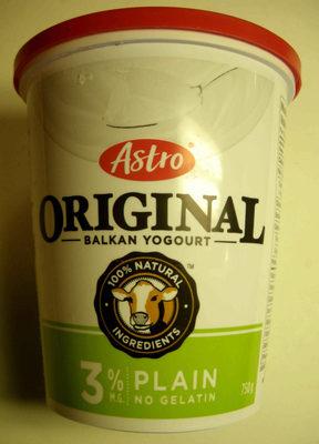 Astro Original Balkan Yogourt Plain 3 % M.G. - Produit - en