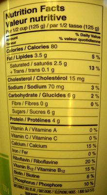Astro Original Balkan Yogourt Plain 3 % M.G. - Informations nutritionnelles - en