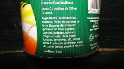 Mélange à Soupe (bouillon De Légumes) - Ingredients - fr