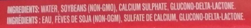 Medium Firm Tofu - Ingredients - en