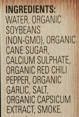 Soyganic Smoked Tofu Sriracha - Ingredients - en