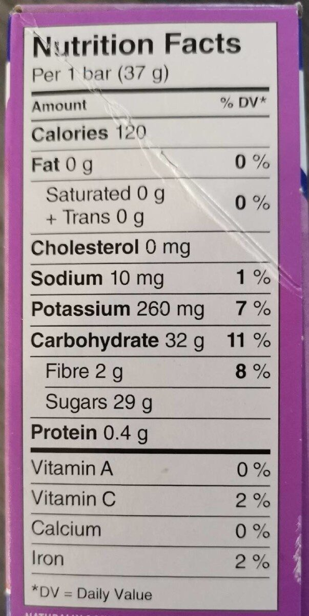 Fruit Source - Informations nutritionnelles - en