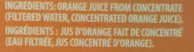 Orange juice 100% juice - Ingrédients - fr