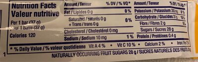 Fruitsource - Nutrition facts
