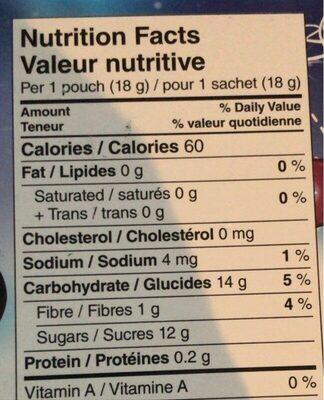 Bouchées de fruits - Informations nutritionnelles - fr