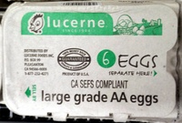 6 large grade AA eggs - Product