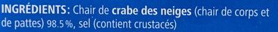 Chair de crabe des neiges - Ingredienti - fr
