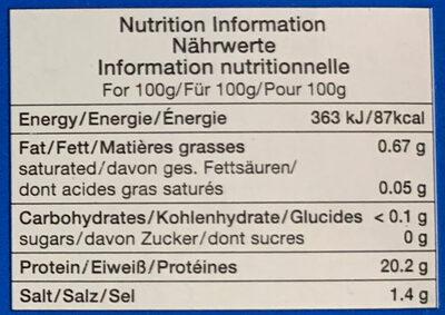 Chair de crabe des neiges - Valori nutrizionali - fr
