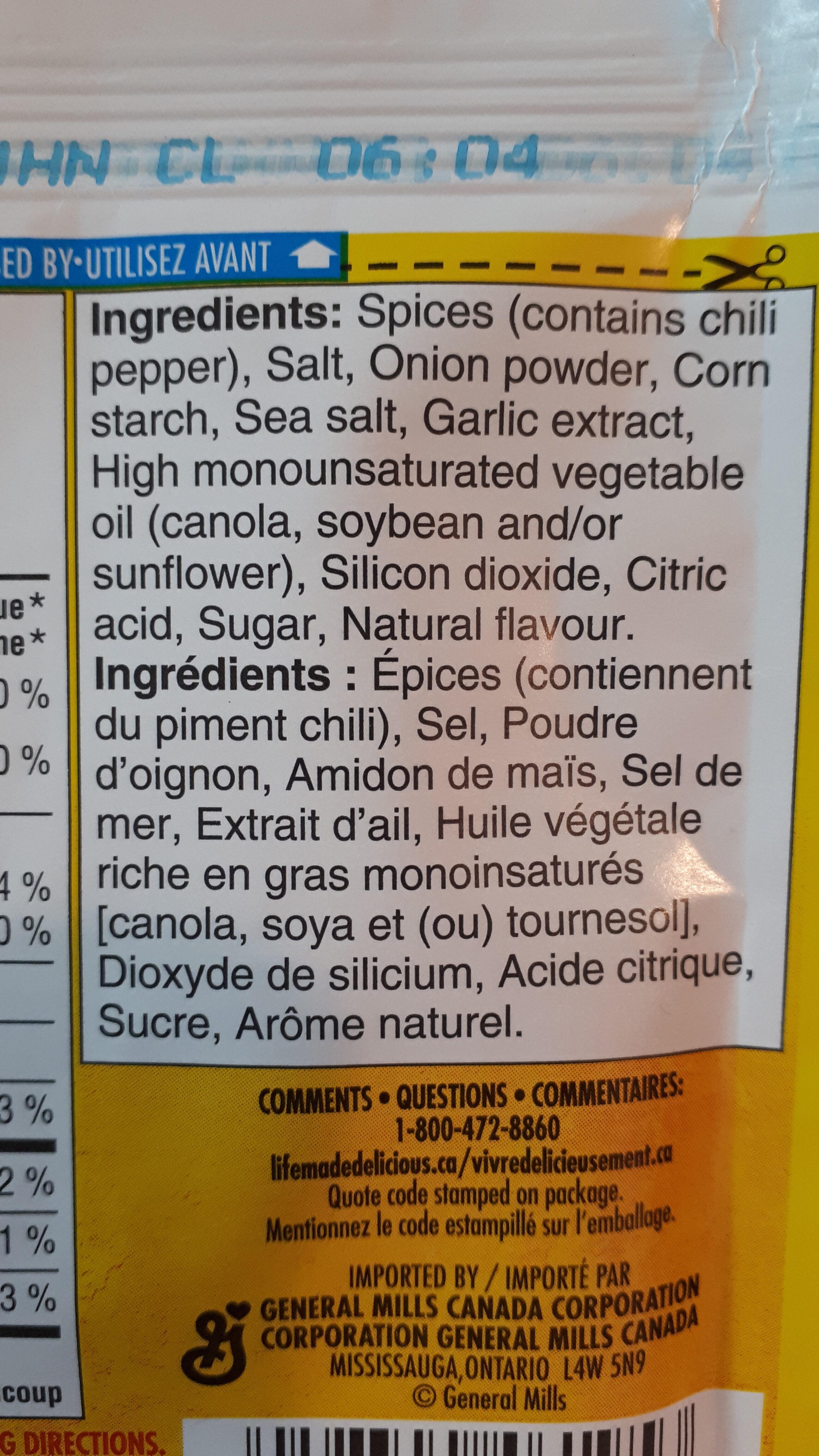 Mélange d'assaisonnements Taco - Ingredients - fr