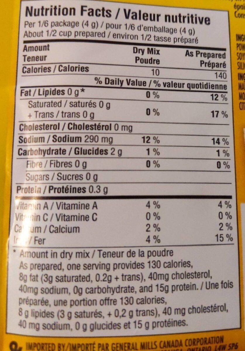 Mélange d'assaisonnements Taco - Nutrition facts - fr