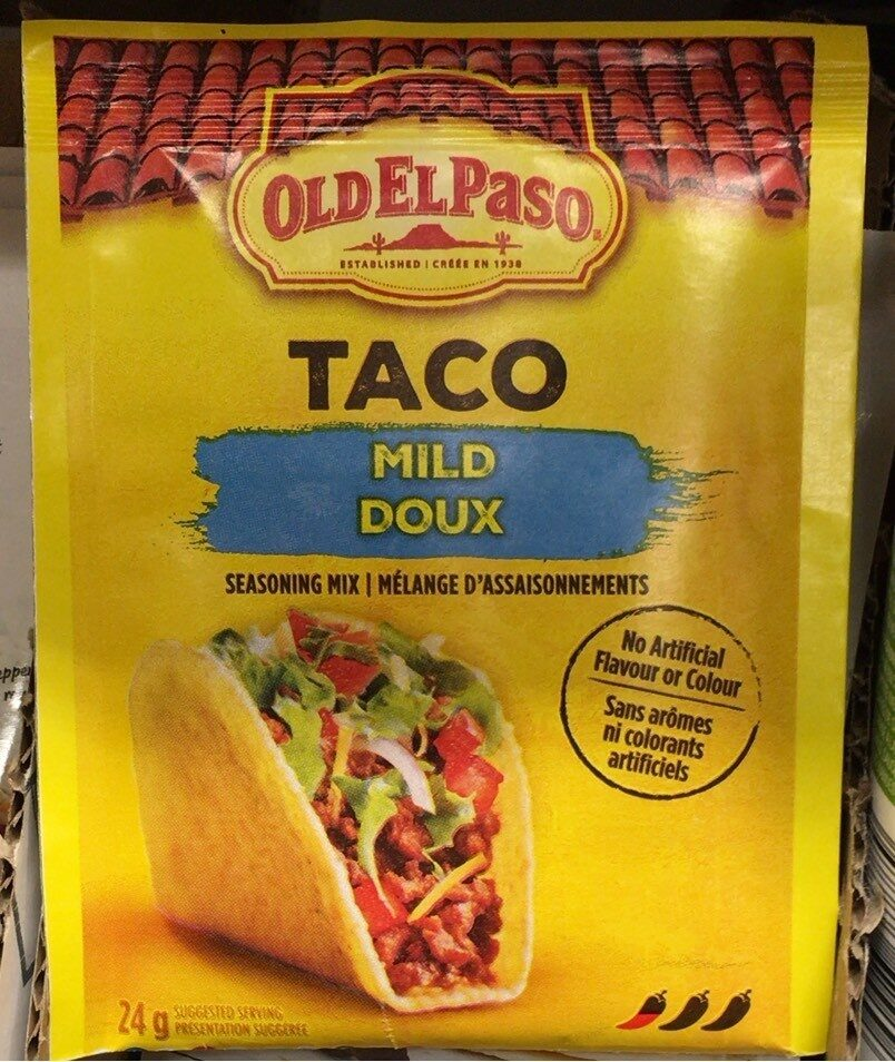 Taco Seasoning Mix Mild Old El Paso