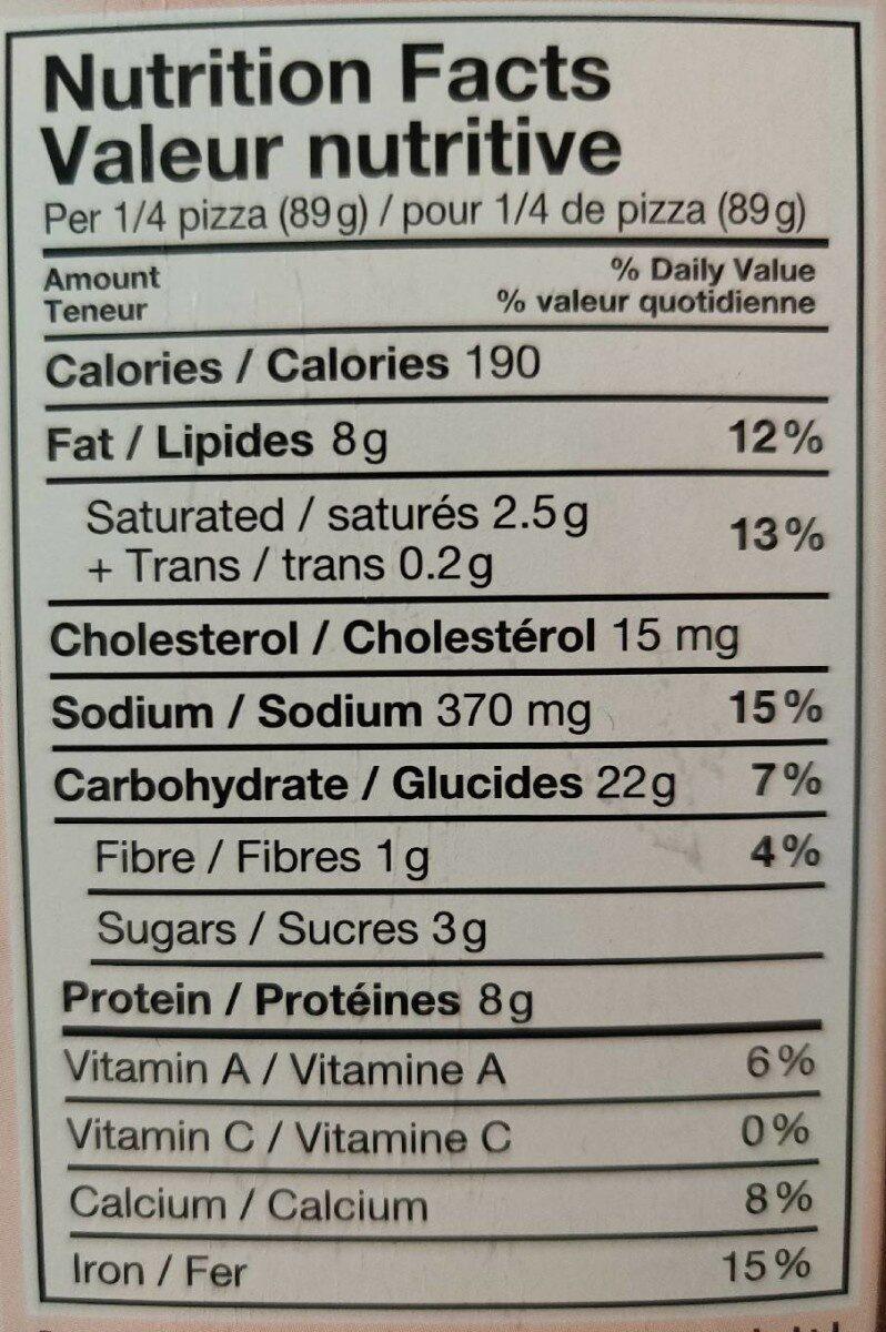 Ritorante pizza pollo - Informations nutritionnelles - fr