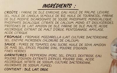 Giuseppe pizzeria - Ingrédients