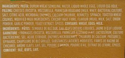 Olivieri Ravioli - Ingredients