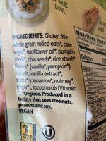 Vanilla pumpkin seed - Ingredients - es