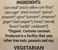 Golden Turmeric Cereal - Ingredients