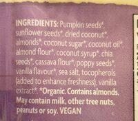 Grain Free Granola Vanilla Poppy Seed - Ingredients - en