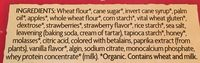 Frosted toaster pastries - Ingredients - en