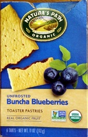 Unfrosted Buncha Blueberries Toaster Pastries - Product