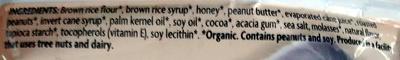 Peanut choco crispy rice bar - Ingredients - en