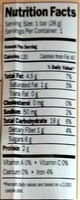 Peanut choco crispy rice bar - Nutrition facts - en