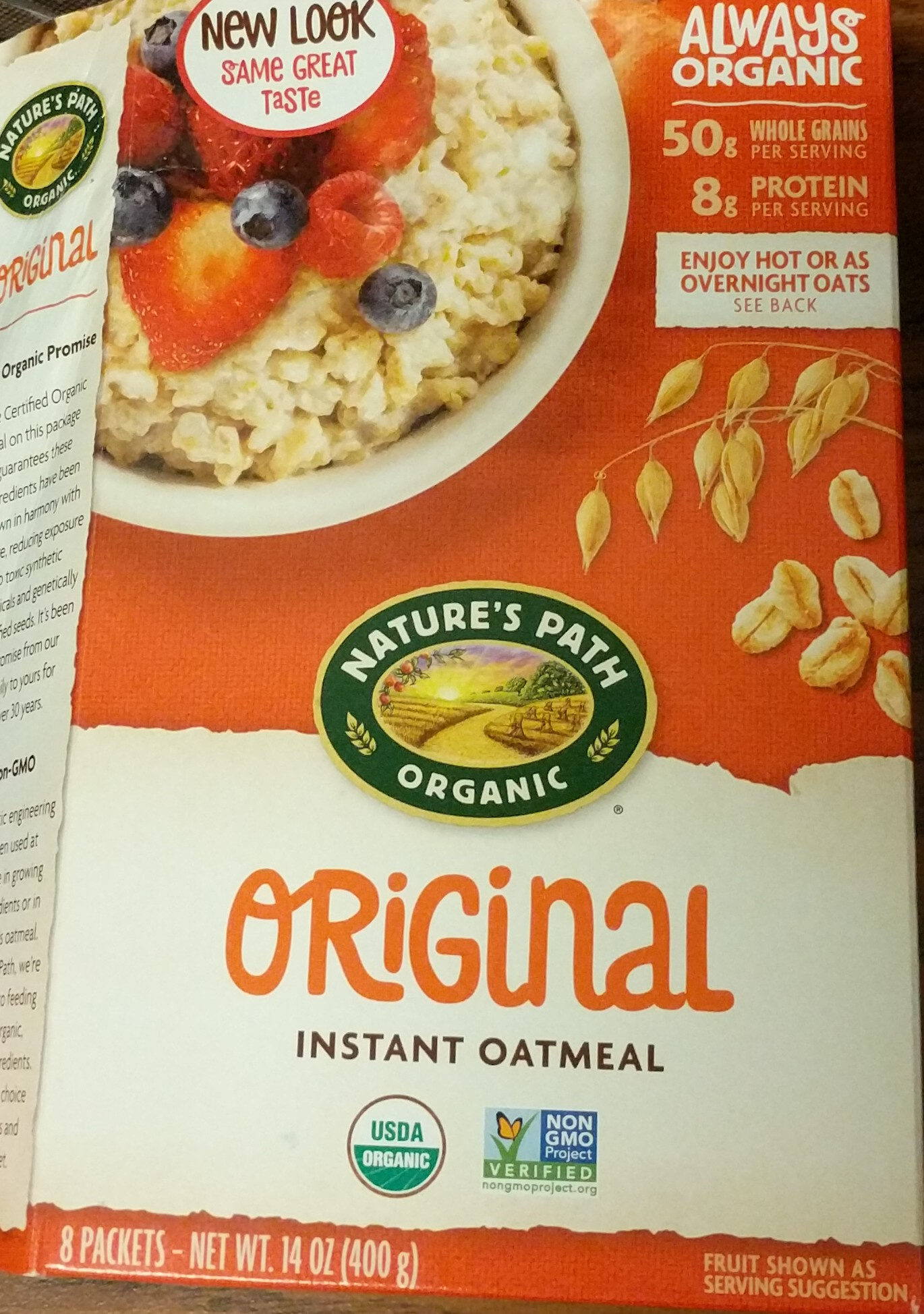 Organic hot oatmeal - Product - en