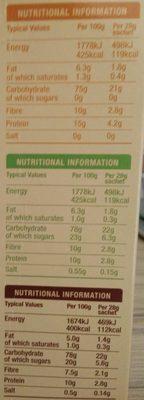 Hot & Steamy Porridge Oats - Nutrition facts