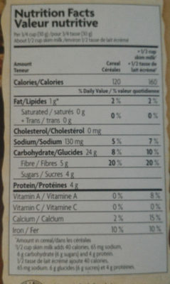 Nature's Path, Organic Heritage Flakes - Nutrition facts